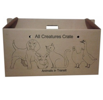 Flatpack Cardboard Animal Transport Boxes